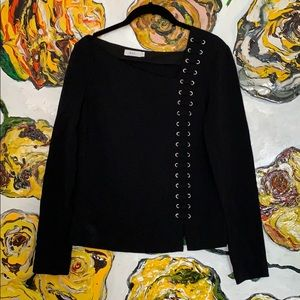 A.L.C Lace Up Black Top